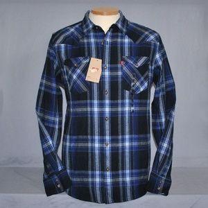 New Levi's Shirt Size Medium Plaid Button Down